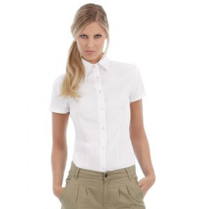 Damen Kurzarm Twill Shirt Sharp