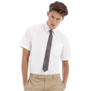 Herren Kurzarm Twill Shirt Sharp